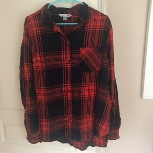 Old Navy Buffalo Plaid Shirt- Red and Navy Blue
